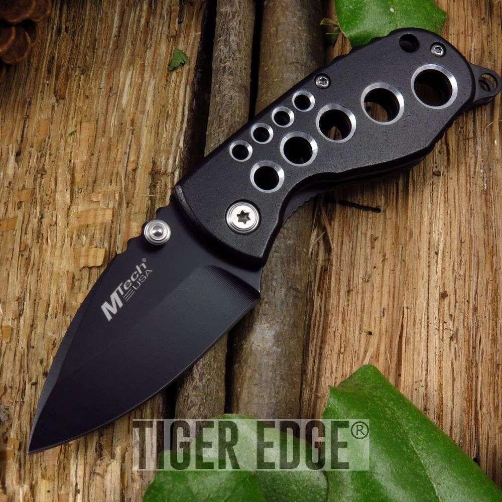 5 75 Quot Black Wide Blade Folding Knife