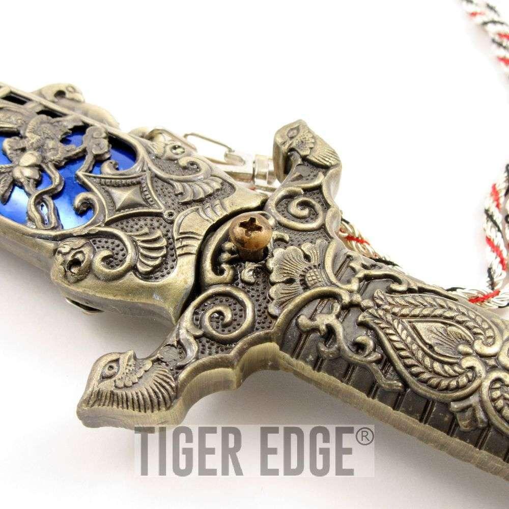 105 ornate blue mana monastery guard fantasy dagger knife biocorpaavc