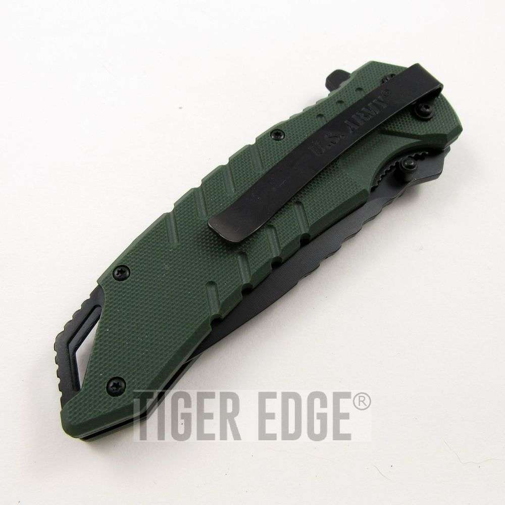 us army green g10 spring assisted military tactical