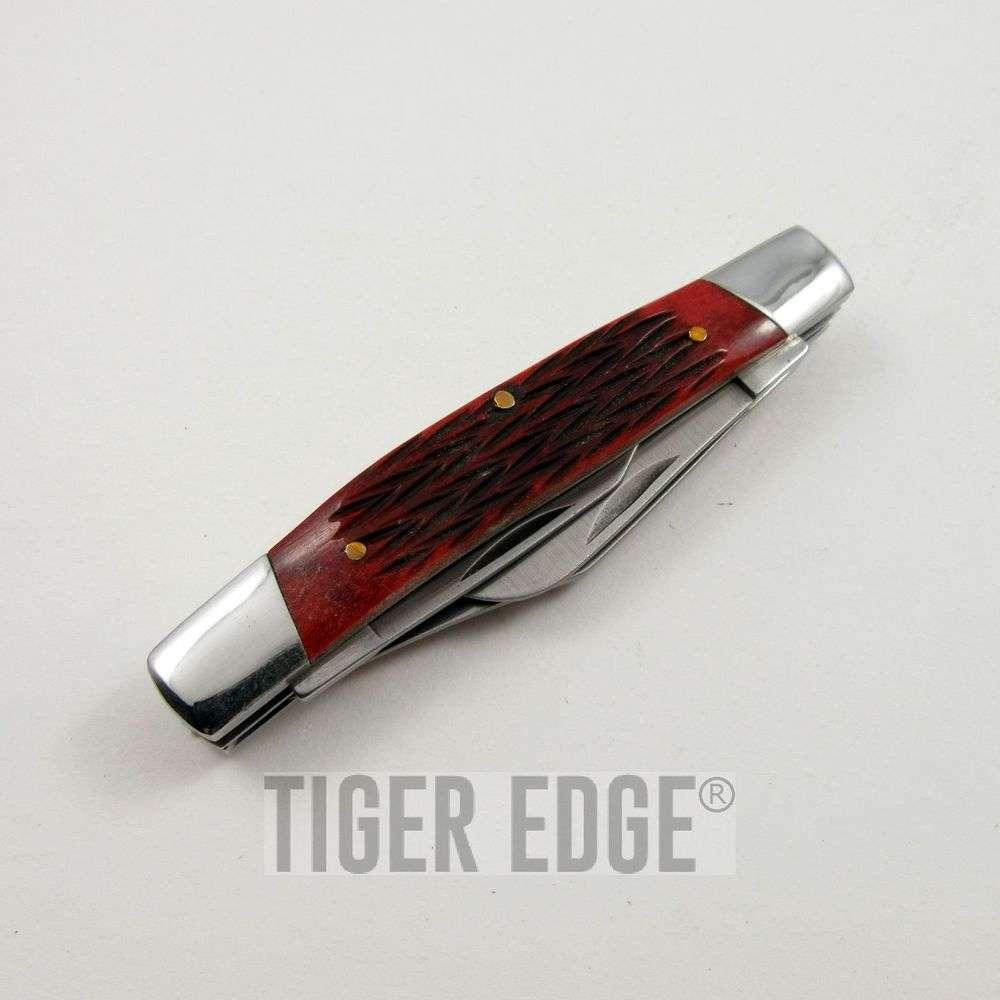 Elk Ridge Red Bone Stockman Folding Pocket Pen Knife