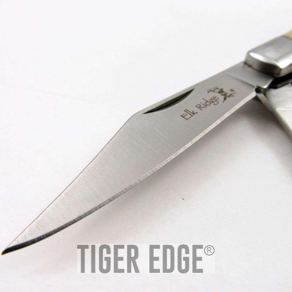 Folding Pocket Knife Elk Ridge Gentleman S Trapper Double