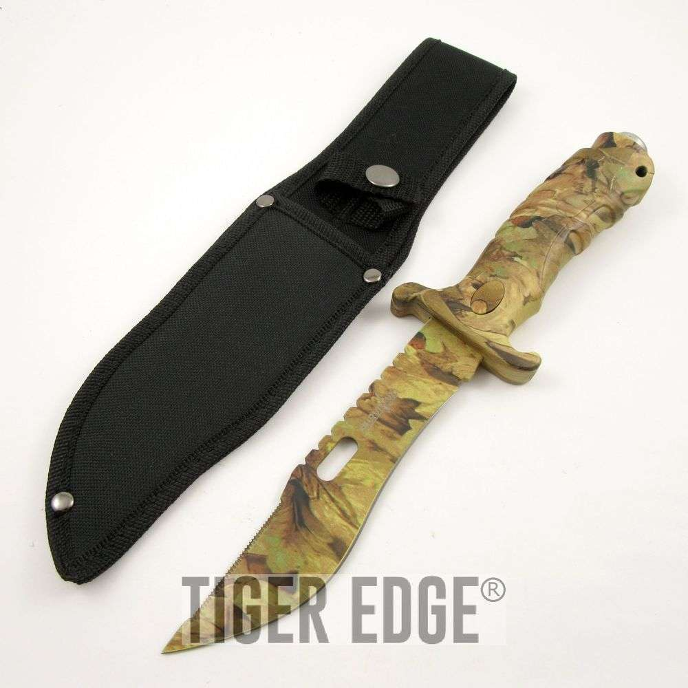 "Sheaths For Knives Some Of Everything Fall 2009: 9.5"" Fall Real Tree Camo Hunting Knife W/ Sheath"