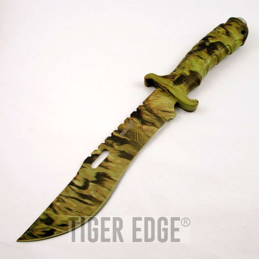 "Sheaths For Knives Some Of Everything Fall 2009: 13"" Fall Real Tree Camo Hunting Knife W/ Sheath"