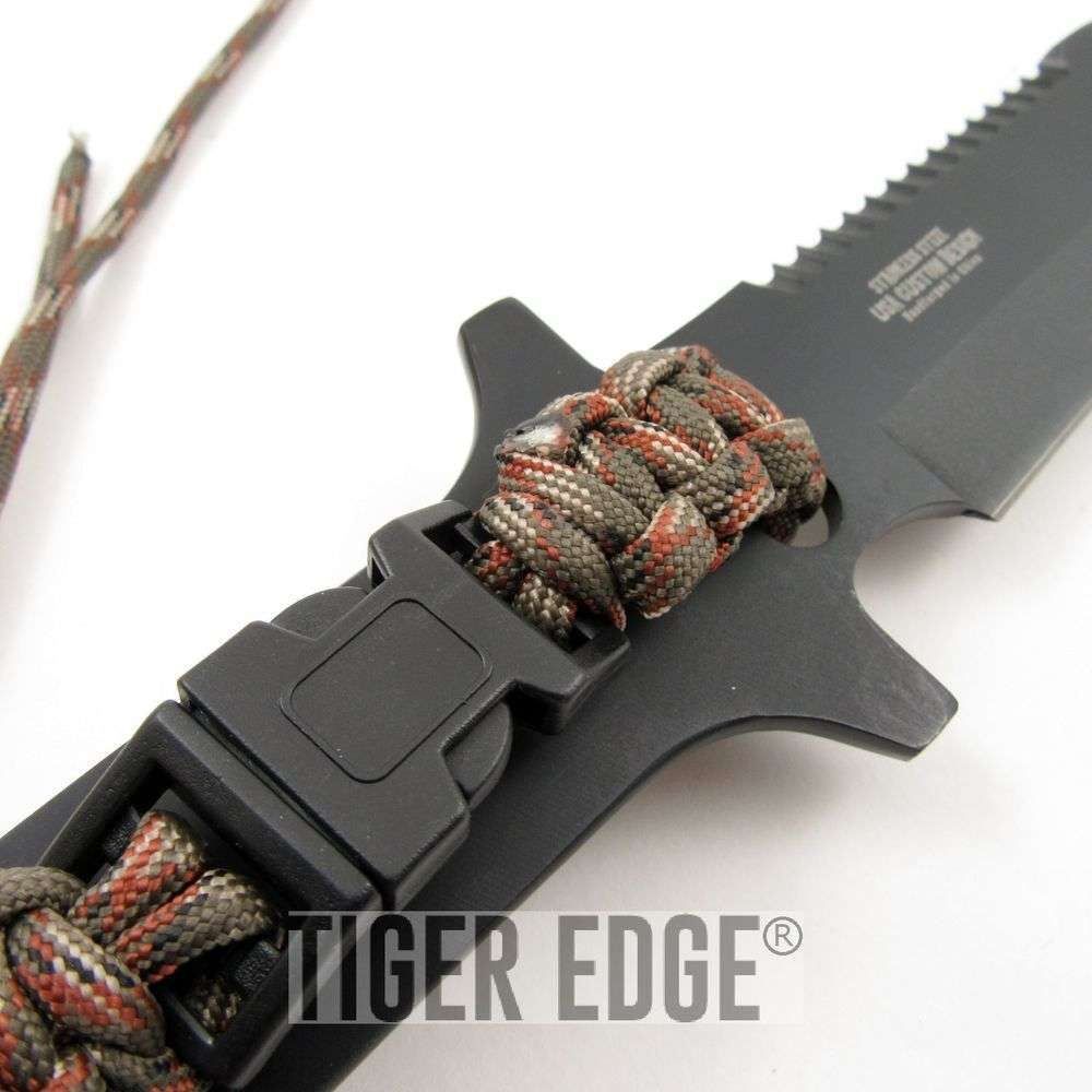 Survivor Fixed Blade Knife With Free Removable Paracord