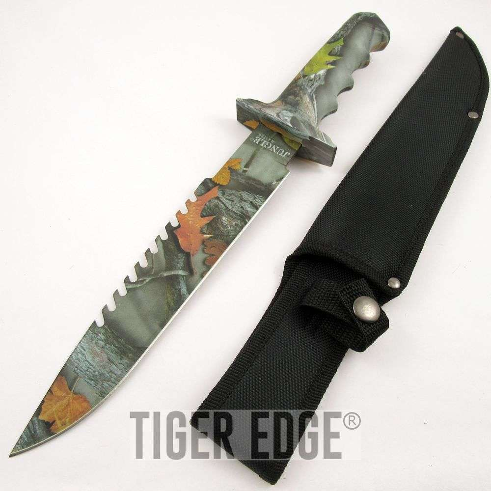 Sheaths For Knives Some Of Everything Fall 2009: FIXED BLADE KNIFE Jungle Master Camo Green Survival