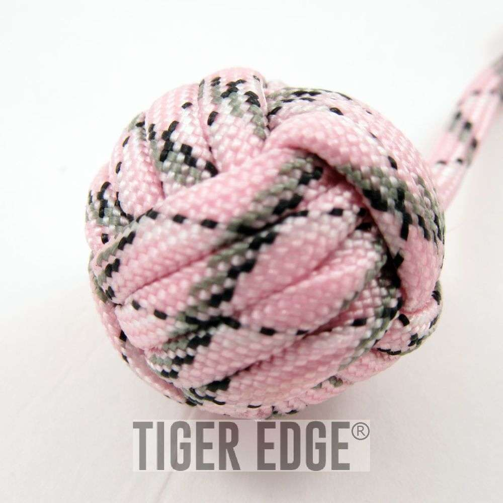Women s Pink Paracord Monkey Fist Keychain Girl s Camo Self Defense Gift 902216902