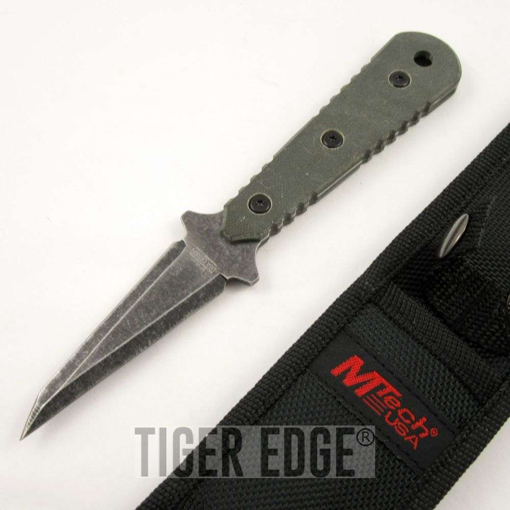 Mtech 7 5 Quot Full Tang Stonewash Green G10 Handle Bodyguard