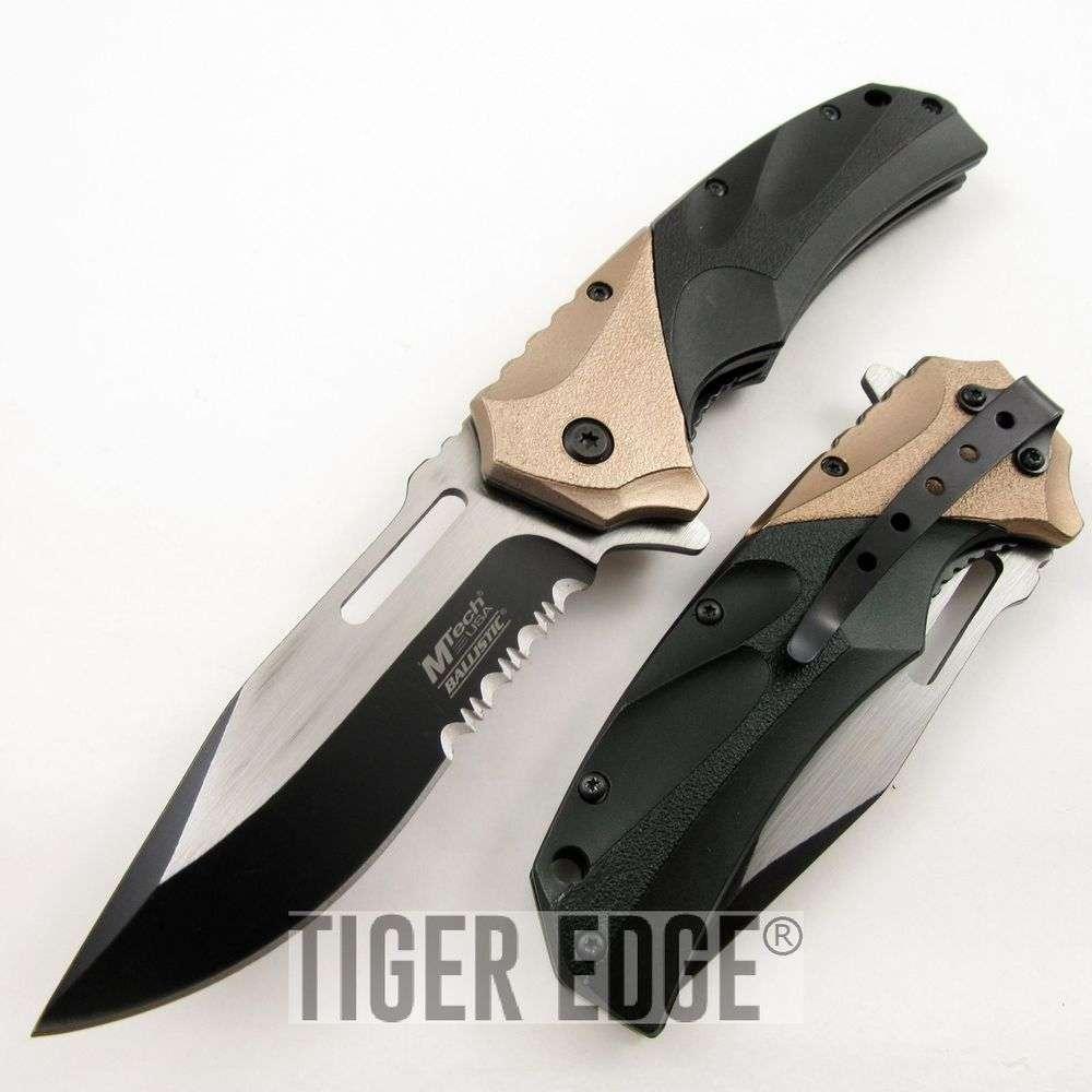 SPRING-ASSIST FOLDING POCKET KNIFE Mtech Black Copper ...