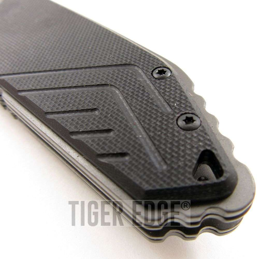 Mtech Xtreme Gray G10 Tactical Futuristic Spring Assist Folding Knife