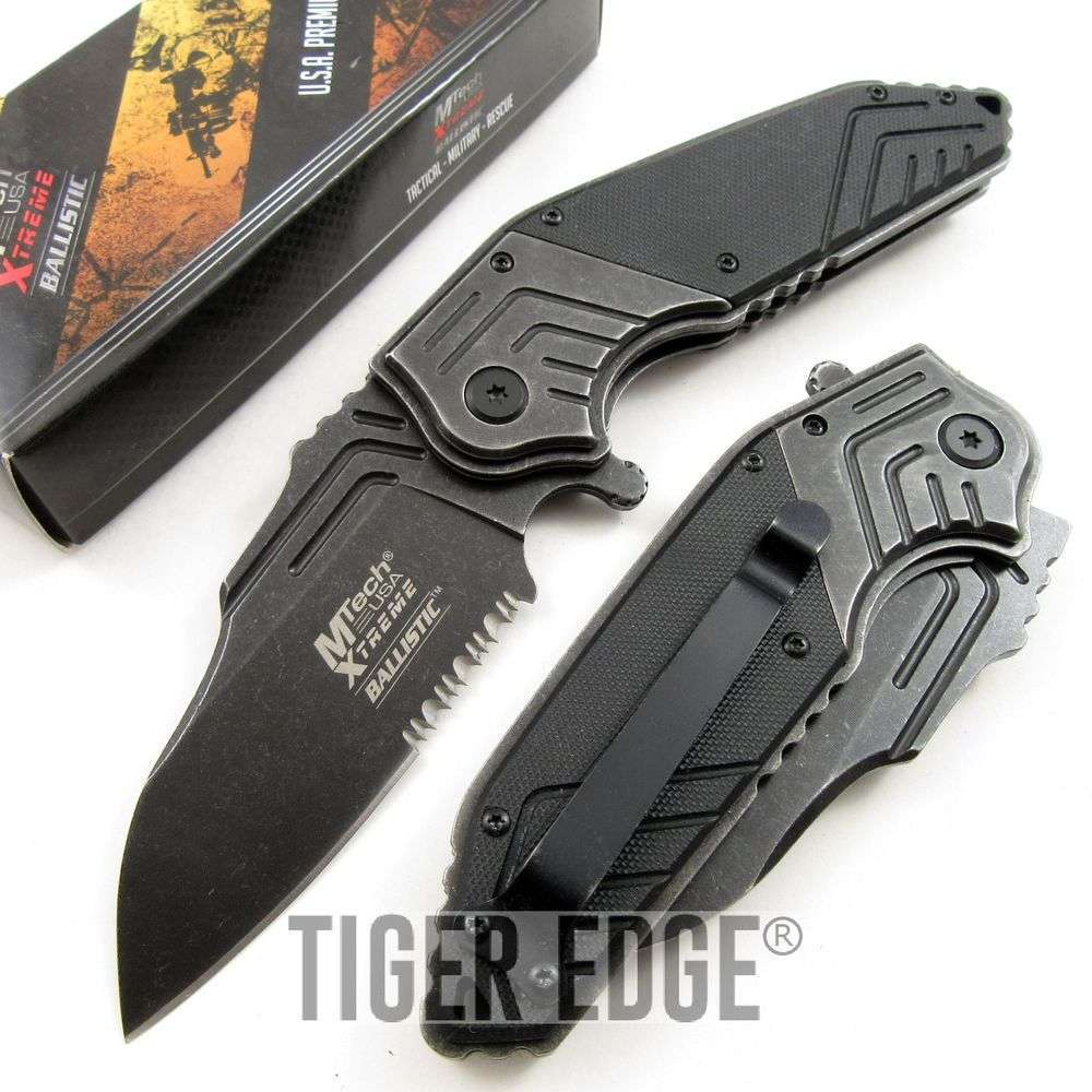 Mtech Xtreme Stone G10 Tactical Futuristic Spring Assist Folding Knife
