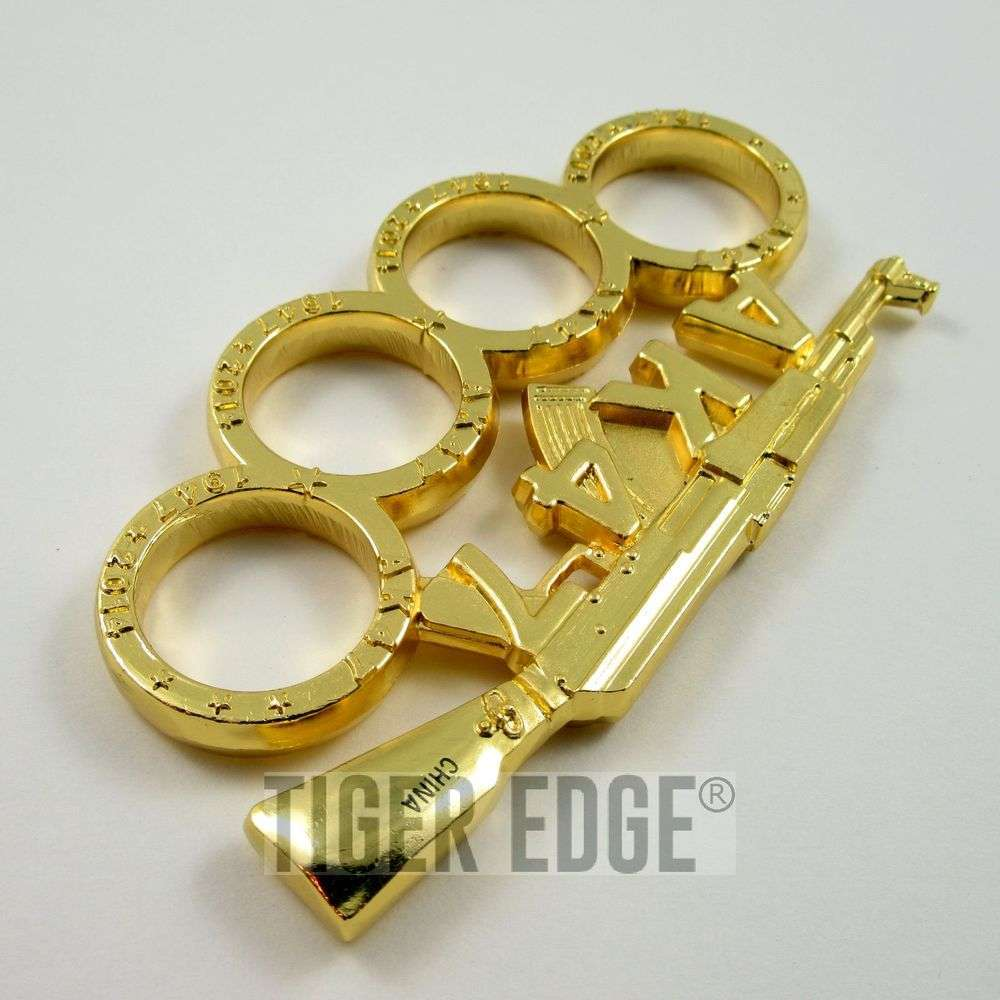 brass knuckle gold ak 47 rifle paperweight ak47 gun biker duster. Black Bedroom Furniture Sets. Home Design Ideas