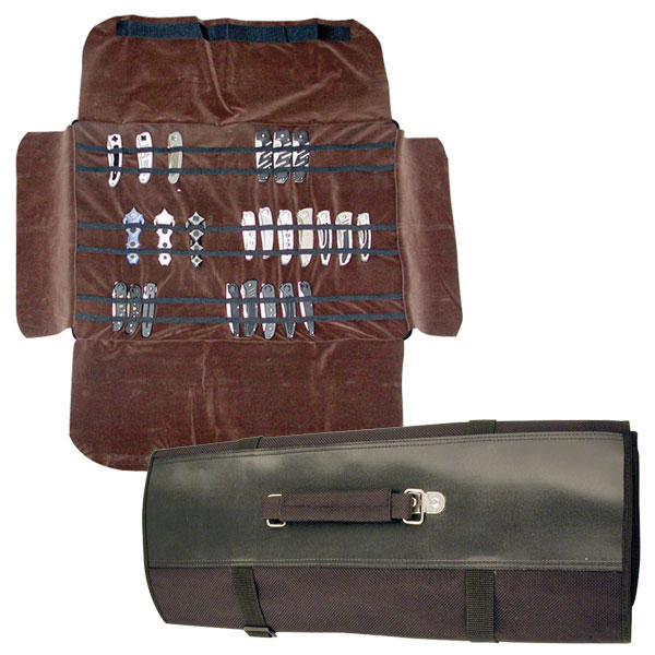 Folding Knife Carrying Case 60 Knife Roll Up Pouch Storage