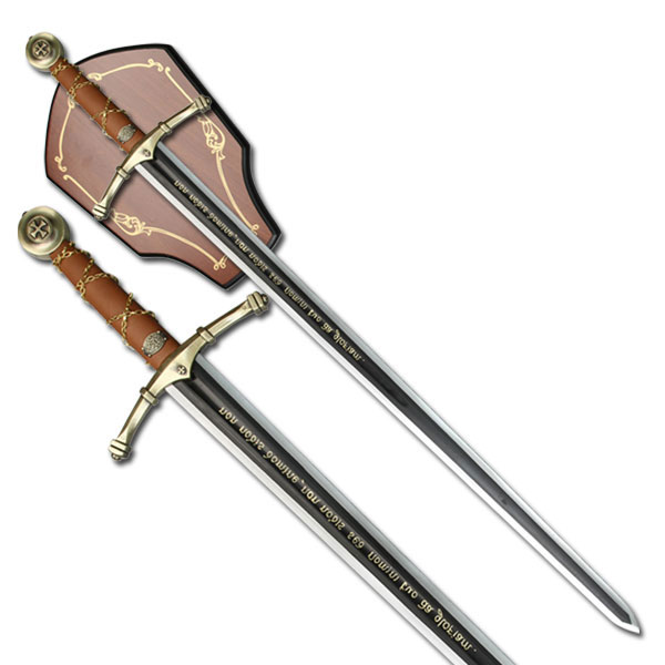 45 Quot Black Amp Silver Two Handed Runic Medieval Sword W