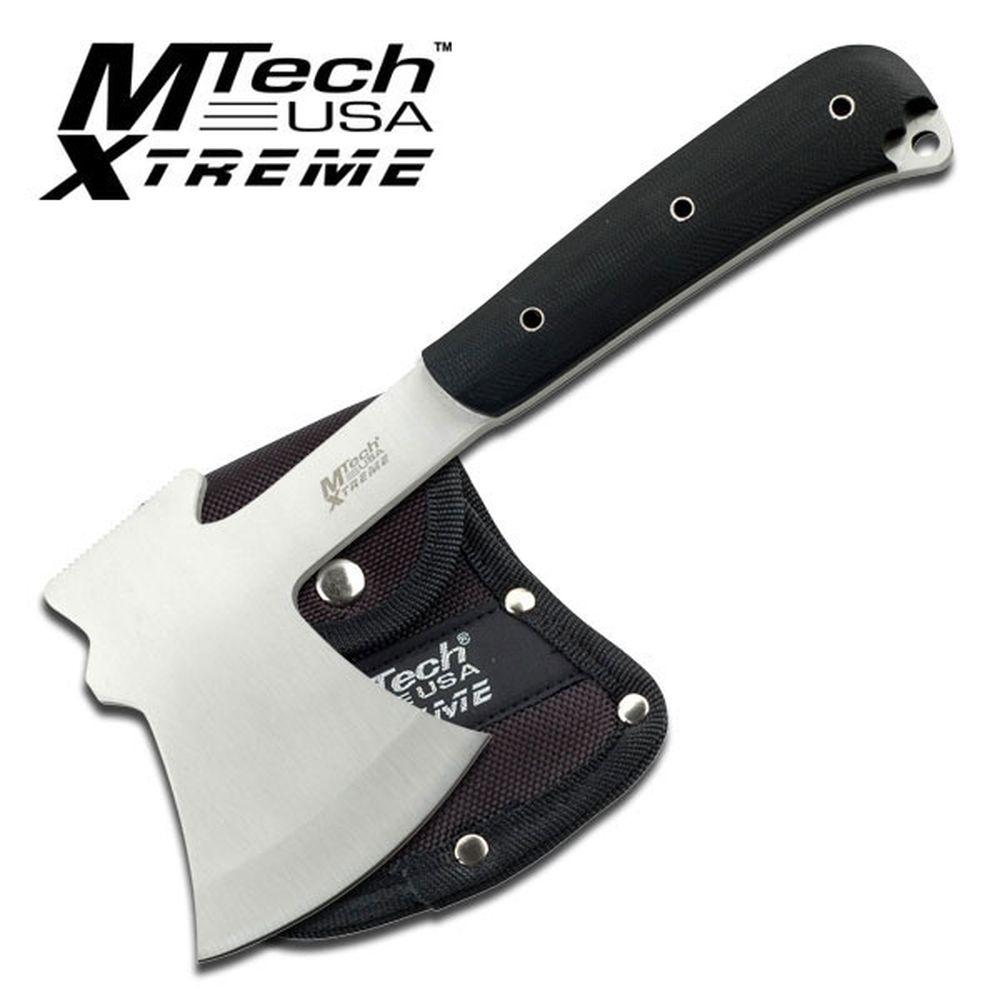 NOUVEAU! MTech Extreme 9.5 Full Tang axe Poignée G10 Sharp Satin lame avec gaine