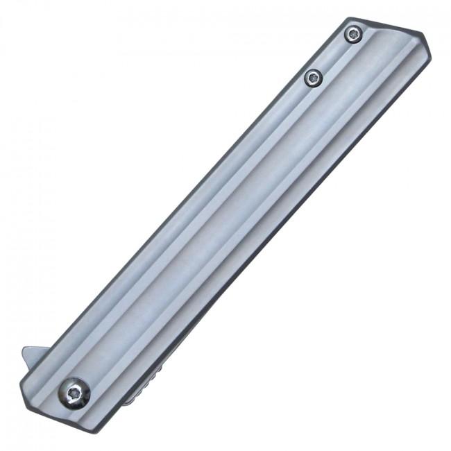 Spring-Assist Folding KnifeWartech Gray Slim Tactical EDC Drop Point Blade