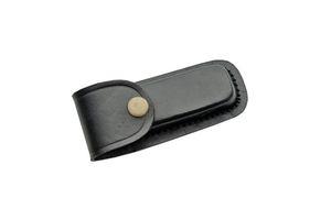 Black Genuine Leather Belt Sheath for 4
