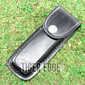 Black Genuine Leather Belt Sheath for 5