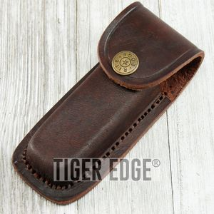 Brown Genuine Leather Belt Sheath for 4
