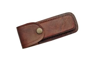 Brown Genuine Leather Belt Sheath for 5