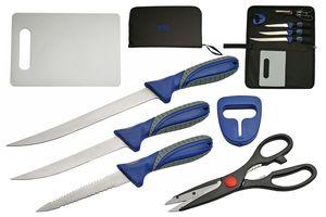 HUNTING FISHING KNIFE SET | Rite Edge 6 Piece Hunter Fillet Blade Kit with Case