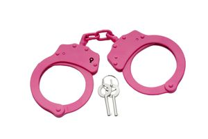 Pink Steel Fully Functional Self Defense Security Handcuffs with Keys
