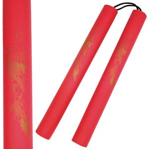 Lightweight Red Foam Nunchucks Padded Training Costume Cosplay Ninja