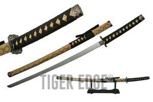 JAPANESE SAMURAI SWORD Cobra Snake Katana Ninja Sharp Blade Skin Tsuba 926672-01