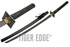 Japanese Samurai Sword Black Stealth Carbon Steel Blade Dragon Katana + Scabbard