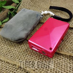 Pink 2 Million Volts Compact Firefly Stun Gun with Velvet Pouch