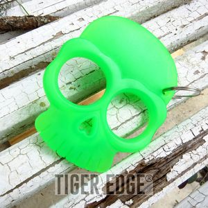 Zombie Green ABS Hard Plastic Knuckle Self Defense Keychain
