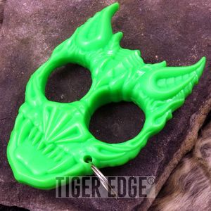 Green Hard Plastic Demon Knuckle Defense Keyring