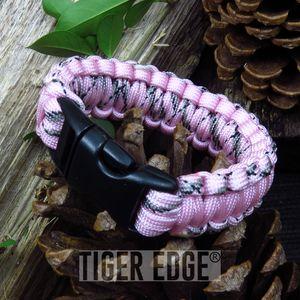 Pink Paracord Survival Bracelet 300 lb., 7