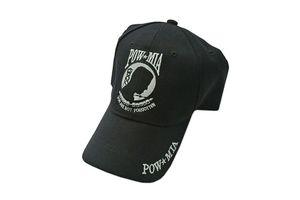 POW MIA Black Baseball Hat Cap - One Size Fits All