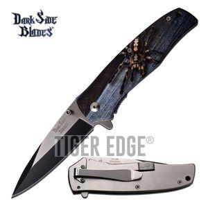 Spring-Assist Folding Pocket Knife | Tarantula Spider Fantasy 3.5