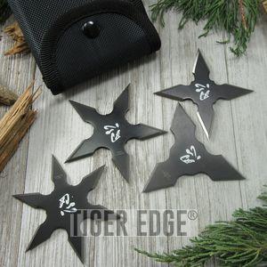 THROWING STAR SET Perfect Point Ninja Shuriken 3-Piece Practice Stars FM-431-4CS