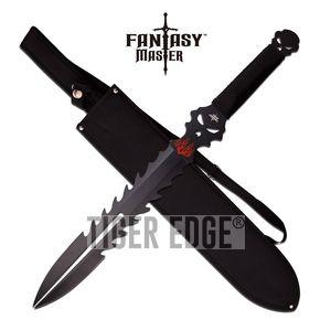 SHORT SWORD Fantasy Master Black Ninja Fixed Blade Medieval Sheath Full FM-671