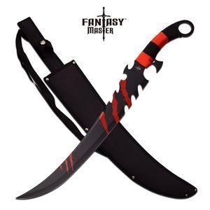 FANTASY SWORD | Red + Black Zombie Killer Scimitar Blade with Sheath FM-675R