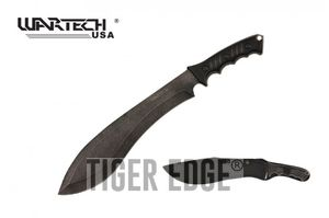 Tactical Kukri Knife | Wartech Machete Gray Stone Blade 18