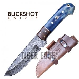 Damascus Steel Hunting Knife | Buckshot 9.75