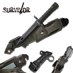 FIXED BLADE KNIFE Mtech Hunting Combat Survival Kit Bayonet Military HK-56142BB