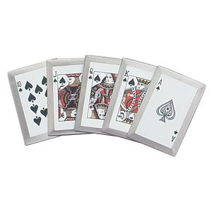 Casino Royal Flush Throwing Card Set Ace Queen King Jack Knife Throwers