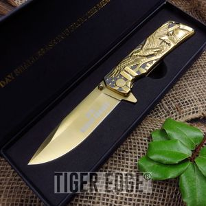 SPRING ASSIST FOLDING POCKET KNIFE | 9-11 Twin Towers World Trade MC-A029GD