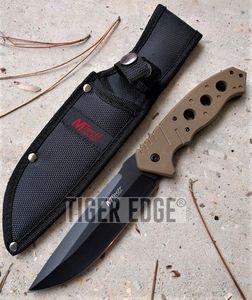 Tactical Knife Mtech Fixed-Blade Tan 5.25