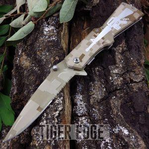Mtech Desert Camo Rifle Folding Knife
