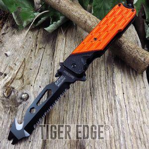 SPRING-ASSIST FOLDING POCKET KNIFE Mtech Orange Bottle Opener Multi Tool