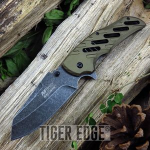 SPRING ASSIST FOLDING POCKET KNIFE | Mtech Brown Tactical Hunting EDC MT-A904TN