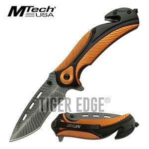 Spring-Assist Folding Knife Mtech Orange 3.25