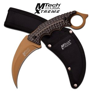 FIXED BLADE KNIFE | Mtech Black Brown Tactical Claw Karambit Combat MX-8140BN