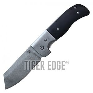 Spring-Assisted Folding Knife | Buckshot Black Wood 3.25