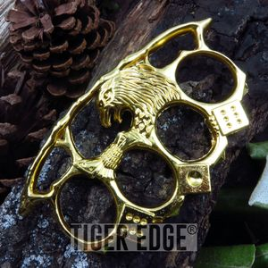 Casino Gold Eagle Brass Knuckle Self Defense Paperweight Gambler's Dice